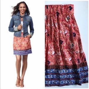 CAbi Bella Batik skirt style #784 Sz S